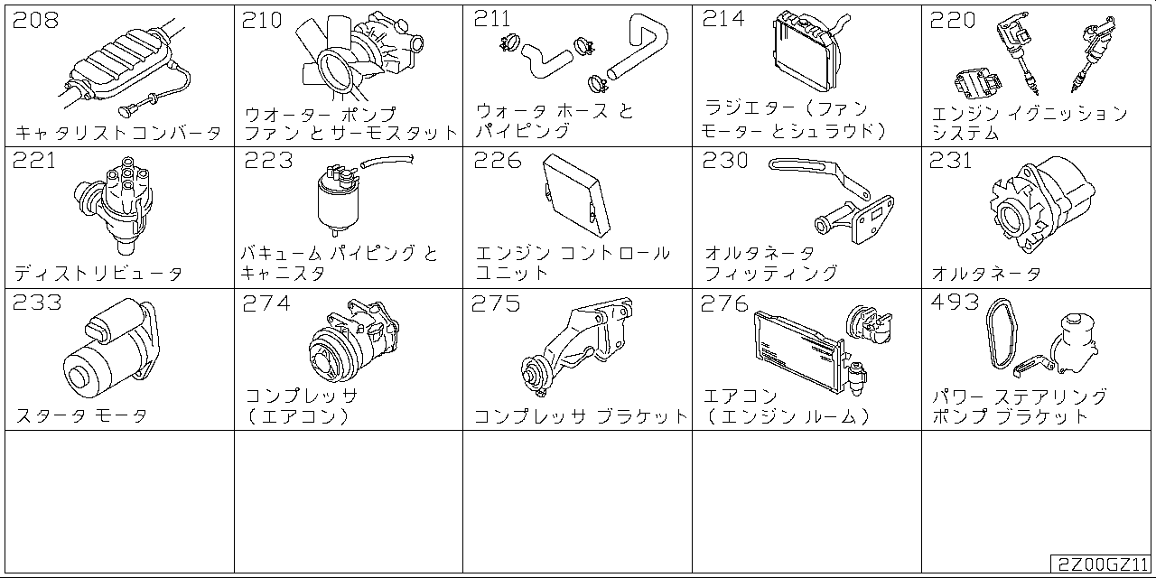 Engine and fuel system Z2